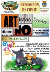 "Exhibition ""young artists against Animal Abuse"" in Estepona"