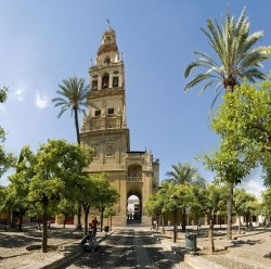 Baroque tower of the Mezquita-Cathedral of Córdoba, built over the former minaret.