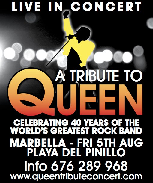 Live in Concert - A tribute to Queen - 5th August