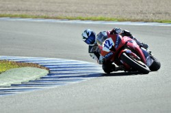 Javier Hidalgo riding in Jerez circuit for the Spanish Championship