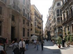 Traperia street seen from Santo Domingo square, Murcia (by Murcianboy)