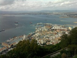 View from the Rock to the port and center of Gibraltar
