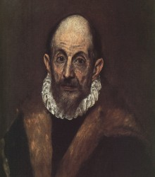 Portrait of A Man (presumed self-portrait of El Greco), circa 1595–1600, oil on canvas