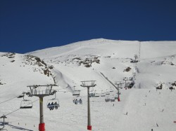 skiing in Spain (Sierra Nevada)