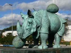 Salvador Dalí - Rhinoceros Sculpture in Puerto Banus (1956)