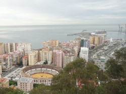 Malaga - View to the Port and Bullring