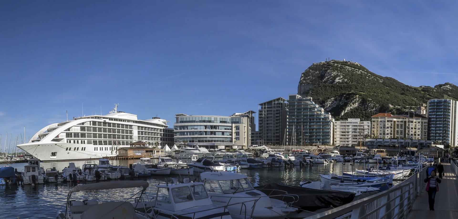 Sunborn Gibraltar Yacht Hotel arrives at Ocean Village
