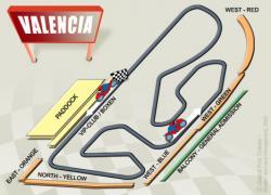 Last Moto Grand Prix in Valencia