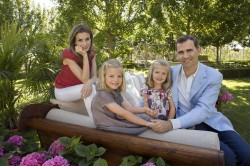 King Felipe VI of Spain and family