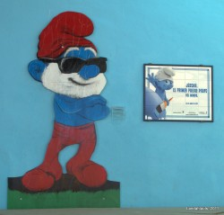 Júzcar, el Pueblo Pitufo – the smurfs town (by Landahlauts at flickr)