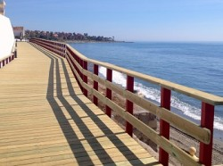 Half of the sections of the coastal path are undergoing in Estepona