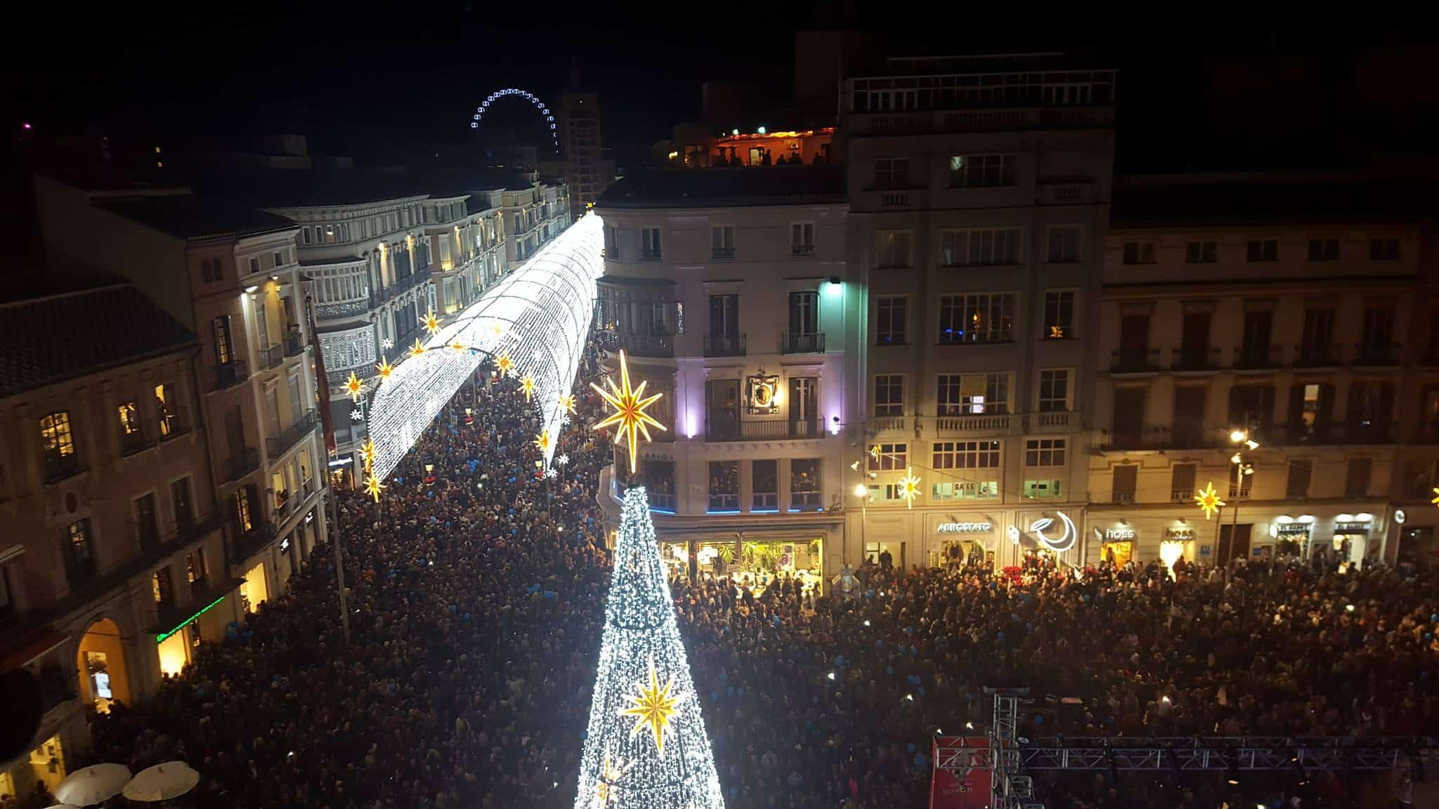Málaga Christmas lighting Inauguration 2015