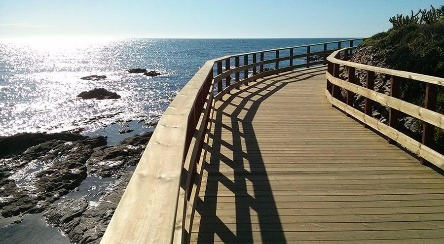 Senda litoral de mijas mijas coastal footpath costa - Boardwalk marbella ...